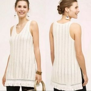 Anthropologie Knitted & Knotted Knitted Tunic Top